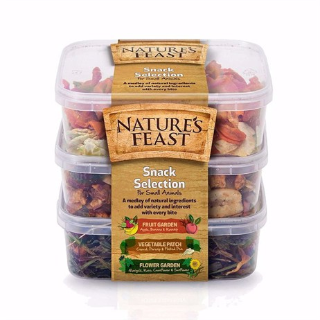 Nature's Feast Snack Pot Selection Food For Small Animals - Set of 3 - 175g (2600104)
