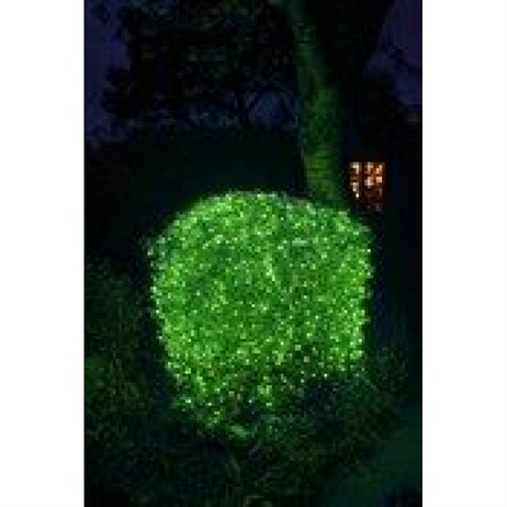 Noma 240 LED Mult-Function Apple Green String Christmas Light with Green Cable (8724GAG)