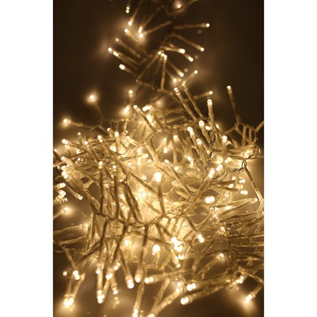Noma 280 LED Warm Whitr Multi-Function Cluster Christmas Lights with Clear Cable (2515015CWW)