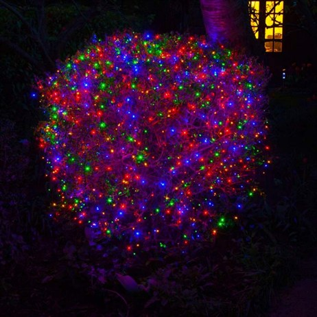 Noma 300 Fit & Forget Multi Coloured Light Chain Battery Christmas Lights (6816004GM)
