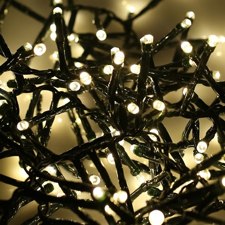 Noma 360 Warm White LED Cluster Christmas Lights with Green Cable (2515016GWW)