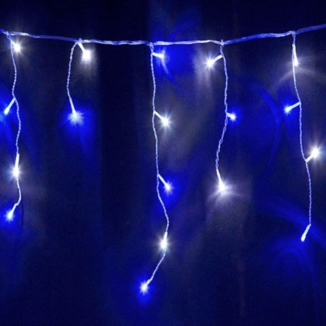 Noma 720 White/Ice Blue LED Snowing Icicles Christmas Lights with White Cable (2515083WIBW)