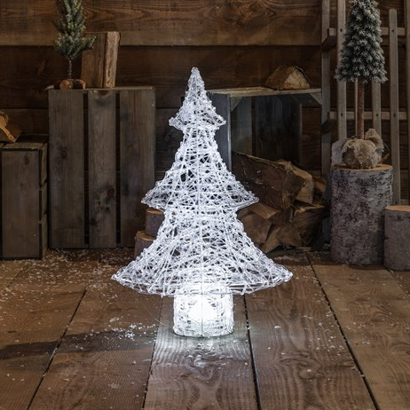 Noma Northern Lights Acrylic Tree with White Disco Christmas Lights - 65cm (2517027W)