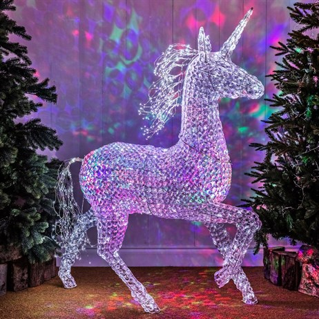 Noma Northern Lights Jewel LED Unicorn with 200 White Twinkling Christmas Lights (2518375)