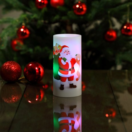 Noma Santa LED Candle Projector Battery Operated Christmas Lights (3719373)