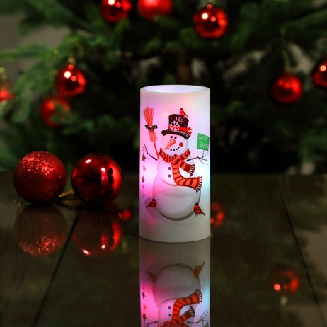 Noma Snowman LED Candle Projector Battery Operated Christmas Lights (3719374)
