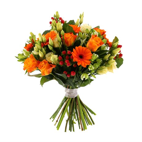 Orange Handtied Bouquet - Classic