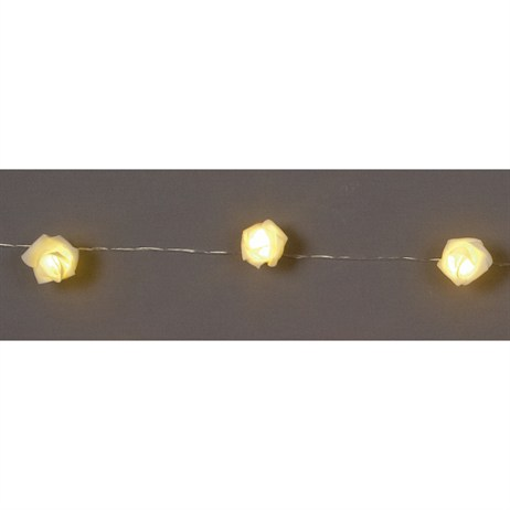 Premier 10 LED Rose Lights - Yellow (LB151438) Christmas Lights