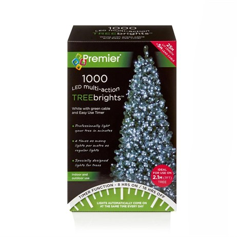 Premier 1000 Multi Action LED Treebrights Christmas Lights White (LV162179W)