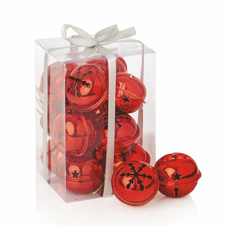 Premier 12 x 4cm Christmas Red Jingle Bells (AC145020R)
