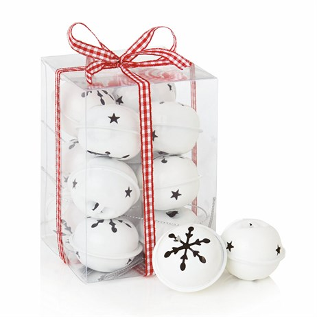 Premier 12 x 4cm Christmas White Jingle Bells (AC145020W)