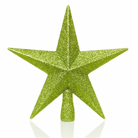 Premier 20cm Apple Green Tree Top Glitter Star (TD126324GR)