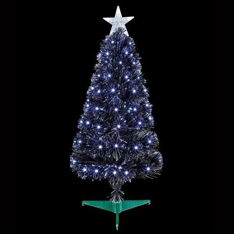 Premier 80cm Black Slim Christmas Tree With White Leds Fibre Optics Ft183123