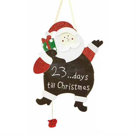 Premier Black Boards Countdown to Christmas 30cm - Santa (AC111006)
