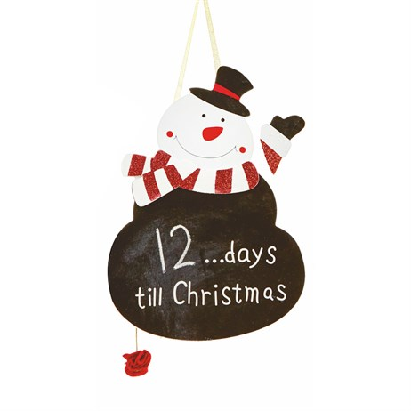Premier Black Boards Countdown to Christmas 30cm - Snowman (AC111006)