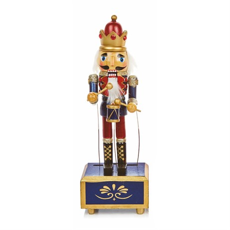 Premier Christmas Nutcracker With Music & Wind Up Animation 30cm - Design 1 (AC176748)