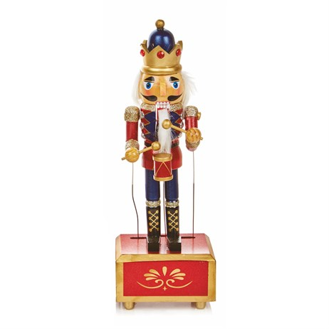 Premier Christmas Nutcracker With Music & Wind Up Animation 30cm - Design 2 (AC176748)