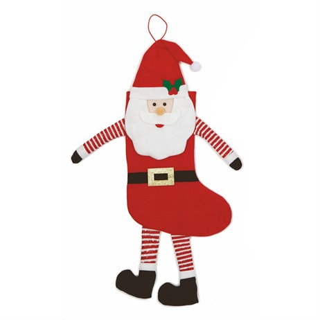 Premier Christmas Stocking 75cm - Santa With Dangling Legs & Arms (PL195059)