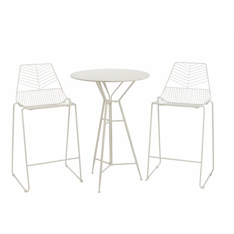 Premier Messina 2 Seater Bistro Bar Outdoor Garden Furniture Set (FN184014W)