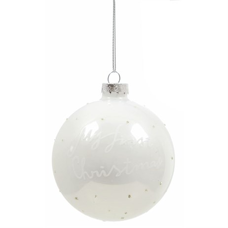 Premier My First Christmas Hanging Decoration - White (G195434)
