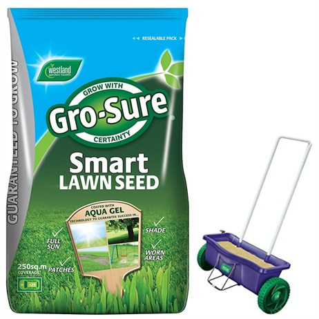 Promotion! Buy A Gro Sure Smart Lawn 250m2 Grass Seed & Get A Spreader Half Price - ONLINE EXCLUSIVE