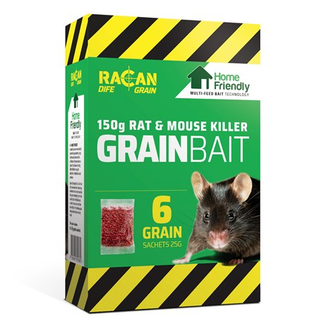 Racan Dife Grain Rat & Mouse Killer Grain Bait - 150G (R8910)