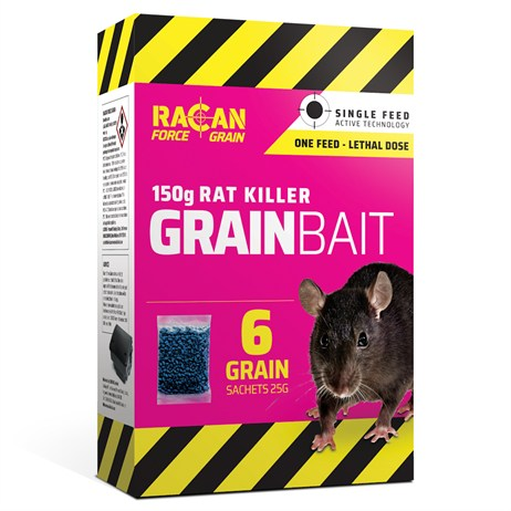 Racan Force Grain Rat Killer Grain Bait - 150G (R8913)