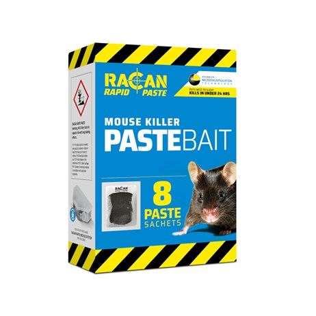 Racan Rapid Paste Mouse Killer Bait - 8 Sachets (R8901)