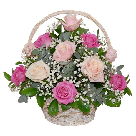 Rose Mother's Day Flowers Basket