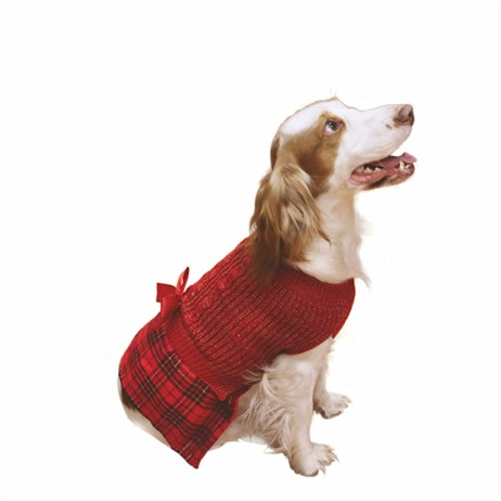 Rosewood Dog Clothing - Tartan Christmas Jumper Dress Medium (38995)