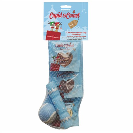 Rosewood Dog Stocking - Christmas Dinner Dog Stocking (90510)