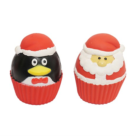 Rosewood Dog Toy - Cupcake Christmas Squeakies 2 Pack (90731)