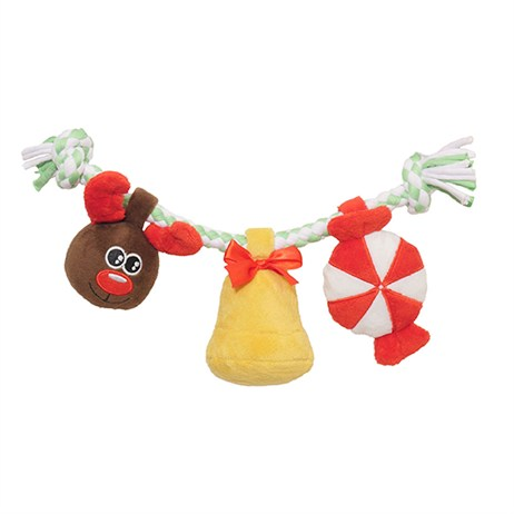 Rosewood Dog Toy - Luxury Christmas Twisty Squeakle And Crinkle (90611)