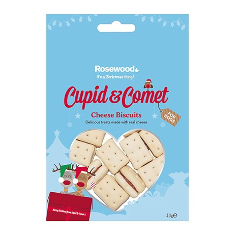 Rosewood Dog Treat - Christmas Cheese Biscuits For Dogs 40g (38664)