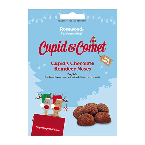 Rosewood Dog Treat - Cupids Chocolate & Cranberry Christmas Reindeer Noses For Dogs 100g (90475)