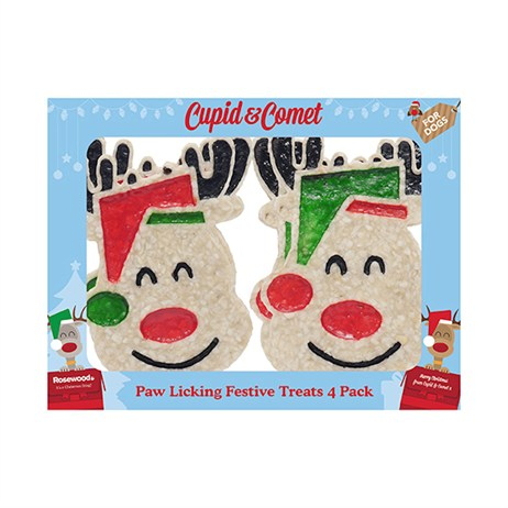 Rosewood Dog Treat - Paw Licking Treats Christmas Gift Box For Dogs 4 Pack (90435)