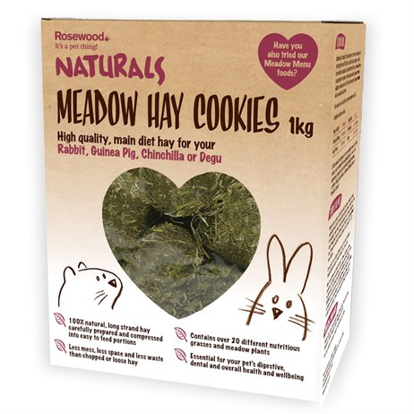 Rosewood Meadow Hay Cookies for Rabbits Guinea Pigs Chinchillas and Degus 1kg (19391)