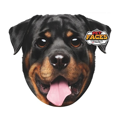 Rosewood Pet Faces Cushions - Rottweiler Cushion