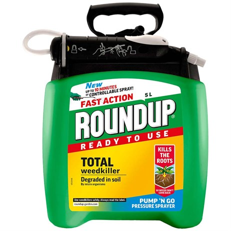 Roundup Fast Action Pump N go Weed Killer - 5L (119407)