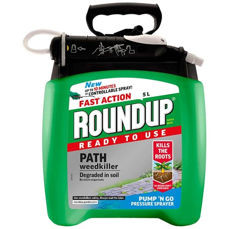 Roundup Path & Drive Pump N go Weed Killer - 5L (119410)