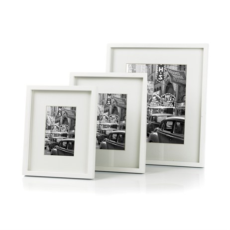 Sixtrees Hanover White 5x7 Photo Frame (WD 964-57)