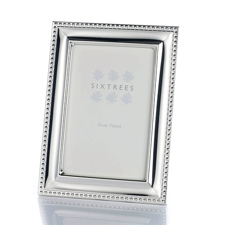 Sixtrees Hunter Silver Plate 4x6 Photo Frame (6-350-46)