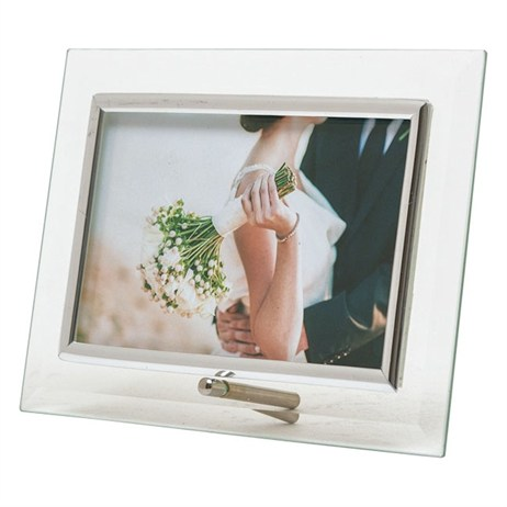 Sixtrees Silver Flat Horizontal 6x4 Photo Frame (ST 124 H)