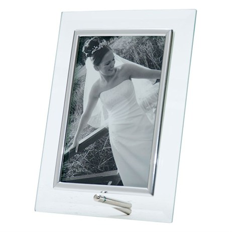 Sixtrees Silver Flat Vertical 5x7 Photo Frame (ST 125 V)