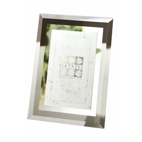Sixtrees Stanbridge Bevelled Glass & Mirror 8x10 Photo Frame (GM 178)