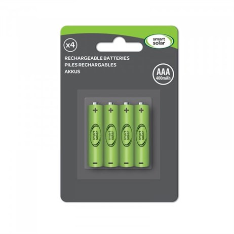 Smart Garden AAA Rechargeable Batteries 600Mah (4Pk) Solar Batteries (1910120RC)