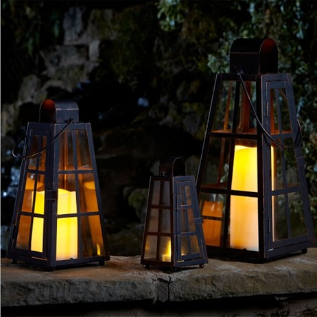 Smart Garden Alexandria Copper Finish Lantern - Set Of 3 (5310030)