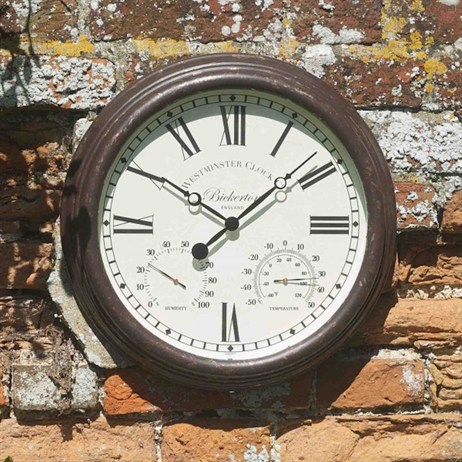 Outside In Bickerton Wall Clock & Thermometer 15 Inch (5060001)
