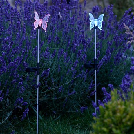 Smart Garden Butterfly Glow Stake Light - Pink (1012013)