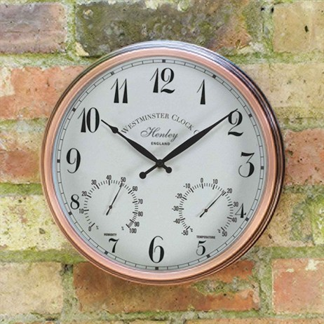 Outside In Henley Wall Clock & Thermometer 12 Inch (5062000)